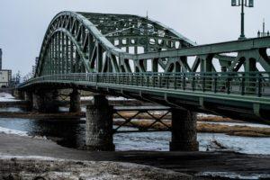 旭川のシンボル旭橋